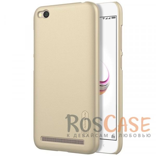 Матовый чехол для Xiaomi Redmi 5A (+ пленка) (Золотой)Описание:бренд&amp;nbsp;Nillkin;совместимость: Xiaomi Redmi 5A;материал: поликарбонат;тип: накладка;закрывает заднюю панель и боковые грани;защищает от ударов и царапин;рельефная фактура;не скользит в руках;ультратонкий дизайн;защитная плёнка на экран в комплекте.<br><br>Тип: Чехол<br>Бренд: Nillkin<br>Материал: Поликарбонат