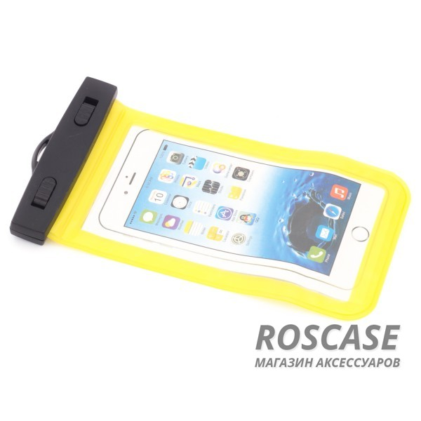 Bingo-водонепроницаемый чехол до 5,5 (Желтый)Описание:производитель - Bingo;совместимость: устройства с диагональю до 5,5;используемый материал: мягкий пластик;форма: чехол.Особенности:износостойкий;надежный;стильный;ультратонкий;простота эксплуатации;через чехол можно управлять смартфоном;в комплекте&amp;nbsp;шнурок длиной 40 см.<br><br>Тип: Чехол<br>Бренд: Epik<br>Материал: Пластик