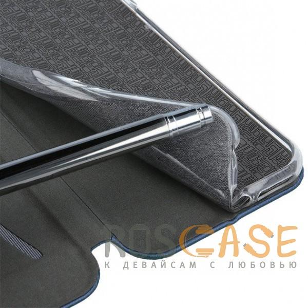 Фотография Темно-синий Open Color 2   Чехол-книжка на магните для Samsung Galaxy S10e с подставкой и внутренним карманом