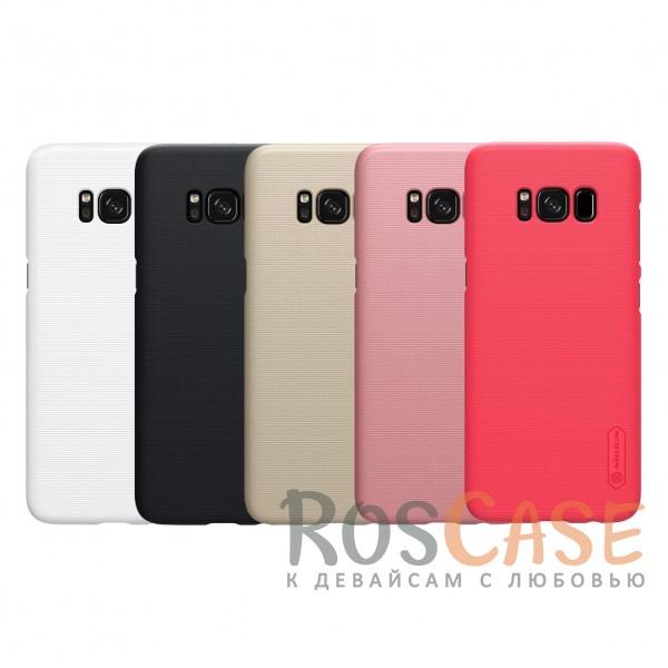 Матовый чехол для Samsung G955 Galaxy S8 Plus (+ пленка)Описание:бренд&amp;nbsp;Nillkin;совместим с Samsung G955 Galaxy S8 Plus;материал: поликарбонат;рельефная фактура;тип: накладка;в наличии все функциональные вырезы;закрывает заднюю панель и боковые грани;не скользит в руках;защищает от ударов и царапин.<br><br>Тип: Чехол<br>Бренд: Nillkin<br>Материал: Поликарбонат