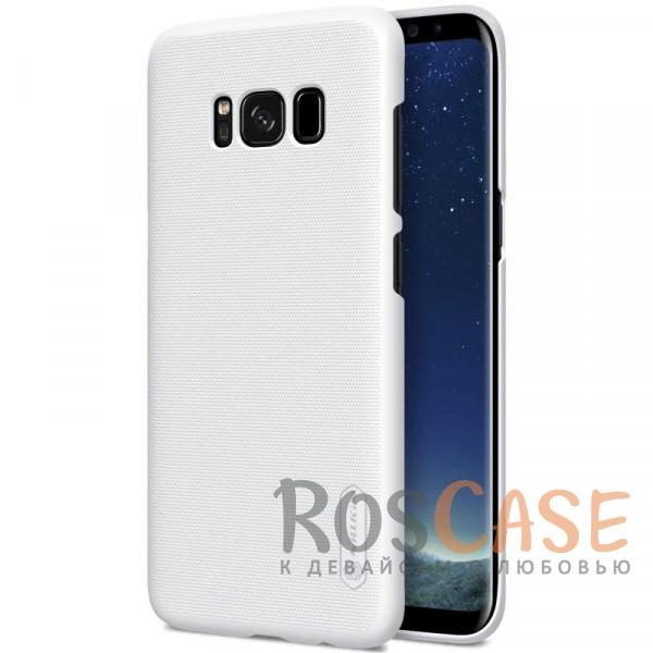 Матовый чехол для Samsung G955 Galaxy S8 Plus (+ пленка) (Белый)Описание:бренд&amp;nbsp;Nillkin;совместим с Samsung G955 Galaxy S8 Plus;материал: поликарбонат;рельефная фактура;тип: накладка;в наличии все функциональные вырезы;закрывает заднюю панель и боковые грани;не скользит в руках;защищает от ударов и царапин.<br><br>Тип: Чехол<br>Бренд: Nillkin<br>Материал: Поликарбонат