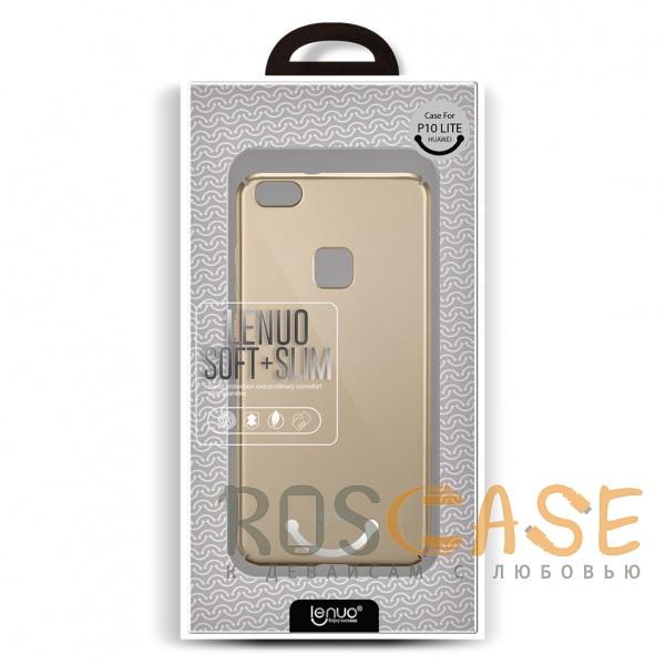 Фотография Золотой (soft-toch) LENUO slim | Тонкий чехол для Huawei P10 Lite с матовой поверхностью