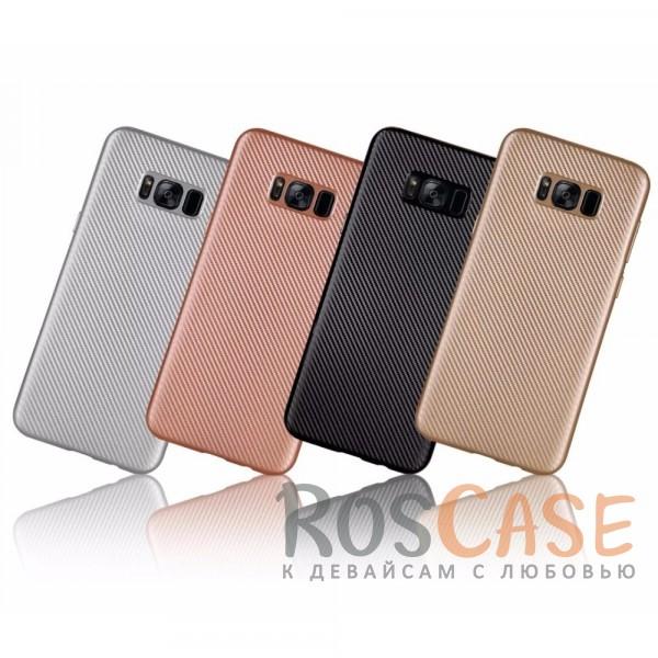 Матовый силиконовый чехол Origin Textured с текстурированной поверхностью под карбон для Samsung G950 Galaxy S8Описание:накладка предназначена для Samsung G950 Galaxy S8;материал - термополиуретан;покрытие имитирует текстуру карбона;защищает от ударов;на чехле не заметны отпечатки пальцев;накладка устойчива к появлению царапин;матовая фактура не скользит в руках;защита камеры от царапин;в наличии все вырезы.<br><br>Тип: Чехол<br>Бренд: Epik<br>Материал: TPU