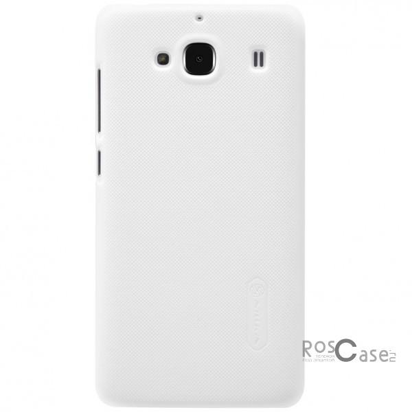 Nillkin Super Frosted Shield | Матовый чехол для Xiaomi Redmi 2 (+ пленка) (Белый)Описание:производитель - бренд&amp;nbsp;Nillkin;материал - поликарбонат;совместимость - Xiaomi Redmi 2;тип - накладка.&amp;nbsp;Особенности:матовый;прочный;тонкий дизайн;не скользит в руках;не выцветает;пленка в комплекте.<br><br>Тип: Чехол<br>Бренд: Nillkin<br>Материал: Поликарбонат