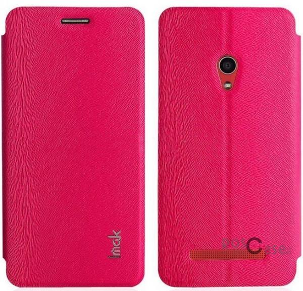 Кожаный чехол (книжка) IMAK Fun Series для Asus Zenfone 5 (A501CG) (Розовый)Описание:бренд:&amp;nbsp;IMAK;совместим с Asus Zenfone 5&amp;nbsp;(A501CG);используемые материалы: поликарбонат, синтетическая кожа;форма чехла: книжка.&amp;nbsp;Особенности:поликарбонатный каркас;износоустойчивые прочные материалы;полный набор функциональных вырезов;текстурированная поверхность;тонкое исполнение;эргономичные свойства  -  подставка.<br><br>Тип: Чехол<br>Бренд: iMak<br>Материал: Искусственная кожа