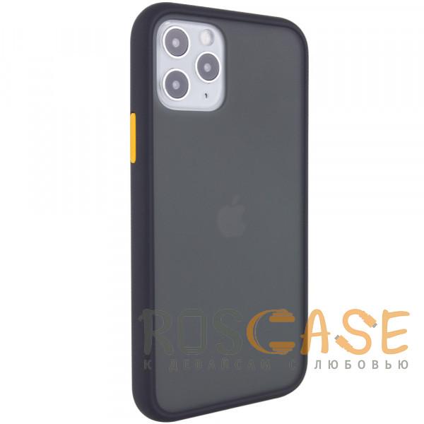 Фотография Черный Противоударный матовый полупрозрачный чехол для iPhone 12 / 12 Pro