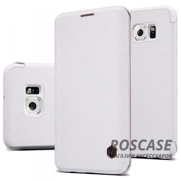 Кожаный чехол (книжка) Nillkin Qin Series для Samsung Galaxy S6 Edge Plus (Белый)Описание:производитель:&amp;nbsp;Nillkin;совместим с Samsung Galaxy S6 Edge Plus;материал: натуральная кожа;тип: чехол-книжка.&amp;nbsp;Особенности:слот для визиток;ультратонкий;фактурная поверхность;внутренняя отделка микрофиброй.<br><br>Тип: Чехол<br>Бренд: Nillkin<br>Материал: Натуральная кожа