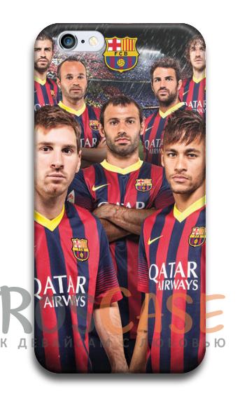 """Фото Барселона №3 Пластиковый чехол RosCase """"Футбольные команды"""" для iPhone 5C"""