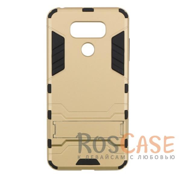 Ударопрочный чехол-подставка Transformer для LG G6 / G6 Plus H870 / H870DS с мощной защитой корпуса (Золотой / Champagne Gold)Описание:чехол разработан для LG G6 / G6 Plus H870 / H870DS;материалы - термополиуретан, поликарбонат;тип - накладка;функция подставки;защита от ударов;прочная конструкция;не скользит в руках.<br><br>Тип: Чехол<br>Бренд: Epik<br>Материал: Пластик