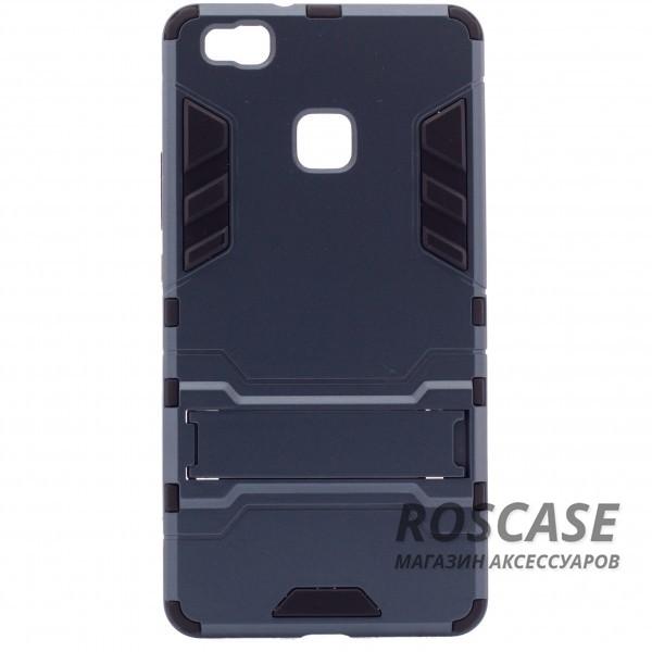 Ударопрочный чехол-подставка Transformer для Huawei P9 Lite с мощной защитой корпуса (Серый / Metal slate)Описание:подходит для Huawei P9 Lite;материалы: термополиуретан, поликарбонат;формат: накладка.&amp;nbsp;Особенности:функциональные вырезы;функция подставки;двойная степень защиты;защита от механических повреждений;не скользит в руках.<br><br>Тип: Чехол<br>Бренд: Epik<br>Материал: TPU