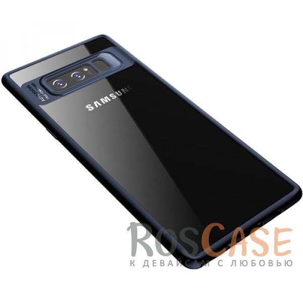 Прозрачный пластиковый чехол с антиударным бампером и защитой камеры для Samsung Galaxy Note 8 (Синий / Blue)Описание:совместим с Samsung Galaxy Note 8;производитель: ROCK;ультратонкий дизайн;защита задней панели и боковых граней;материал - TPU, пластик;тип - накладка;защищает от ударов и царапин;предусмотрены все необходимые функцильнальные&amp;nbsp;вырезы.<br><br>Тип: Чехол<br>Бренд: ROCK<br>Материал: Поликарбонат