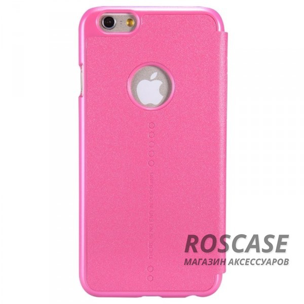 Чехол книжка из гладкой кожи для Apple iPhone 6/6s (4.7)  (Розовый)Описание:изготовлен из синтетической кожи и поликарбоната;фактурная поверхность;тип конструкции: чехол-книжка;совместим с Apple iPhone 6/6s (4.7).&amp;nbsp;Особенности:внутренняя отделка из микрофибры;ультратонкий;не скользит в руках;яркая, насыщенная палитра цветов.<br><br>Тип: Чехол<br>Бренд: Nillkin<br>Материал: Искусственная кожа