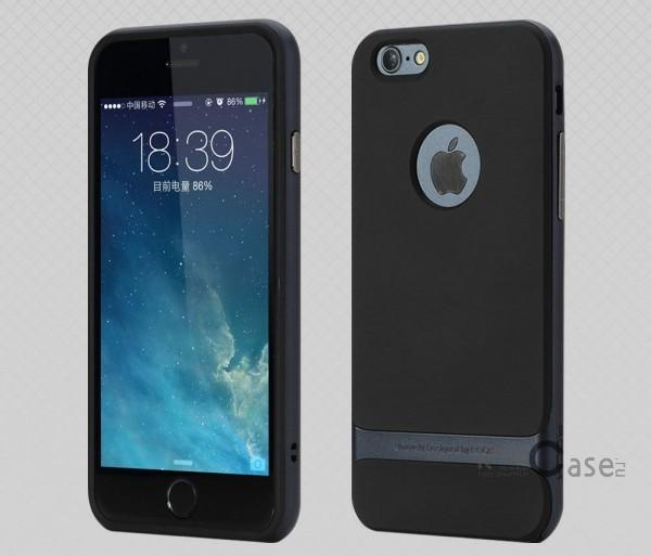 Двухслойный чехол для Apple iPhone 6/6s (4.7) (Черный / Синий)Описание:фирма-производитель  -  Rock;совместимость - Apple iPhone 6/6s (4.7);материалы  -  полиуретан, поликарбонат;тип  -  накладка.&amp;nbsp;Особенности:пластичный;имеет все необходимые вырезы;легко чистится;не увеличивает габариты;защищает от ударов и падений;износостойкий.<br><br>Тип: Чехол<br>Бренд: ROCK<br>Материал: TPU