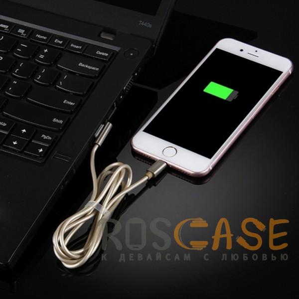 Фото Золотой Remax Emperor | Дата кабель USB to Lightning с угловым штекером USB (100 см)