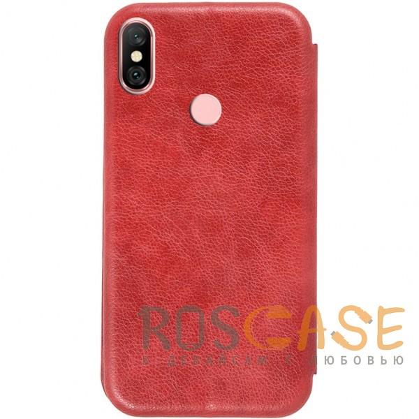 Фотография Красный Open Color 2 | Чехол-книжка на магните для Xiaomi Redmi Note 6 Pro с подставкой и внутренним карманом