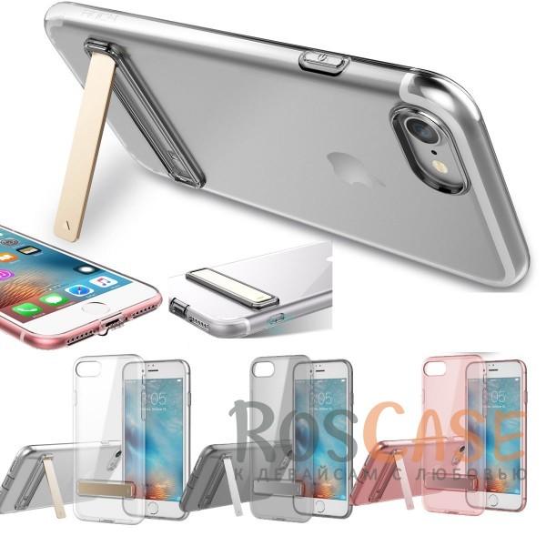 TPU чехол ROCK Slim Jacket с функцией подставки для Apple iPhone 7 plus (5.5)Описание:бренд: Rock;совместим с Apple iPhone 7 plus (5.5);материал: термопластичный полиуретан;форма чехла: накладка.&amp;nbsp;Особенности:все функциональные вырезы предусмотрены;тонкий;прозрачный;защита от царапин и ударов;функция подставки;идеально прилегает.<br><br>Тип: Чехол<br>Бренд: ROCK<br>Материал: TPU