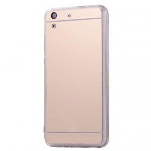 Металлический бампер для Huawei Y6 II с зеркальной вставкой