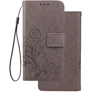 Чехол-книжка с узорами на магнитной застёжке для Samsung Galaxy A6s (2018)