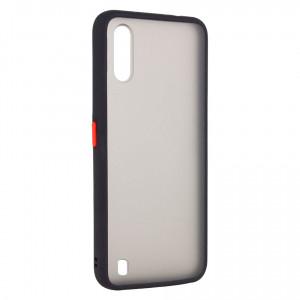 Противоударный матовый полупрозрачный чехол  для Samsung Galaxy A01