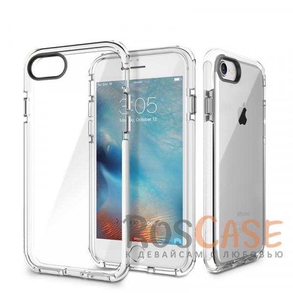 TPU+PC чехол Rock Guard Series для Apple iPhone 7 (4.7) (Белый / Transparent White)Описание:фирма: Rock;совместимость: Apple iPhone 7 (4.7);материал: термопластичный полиуретан и поликарбонат;вид: накладка.Особенности:наличие прочной окантовки;красивые стильные оттенки;долговечность без потери внешнего вида;простота фиксации.<br><br>Тип: Чехол<br>Бренд: ROCK<br>Материал: TPU