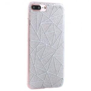 """Силиконовый чехол для Apple iPhone 7 plus / 8 plus (5.5"""") с блестящим геометрическим узором"""