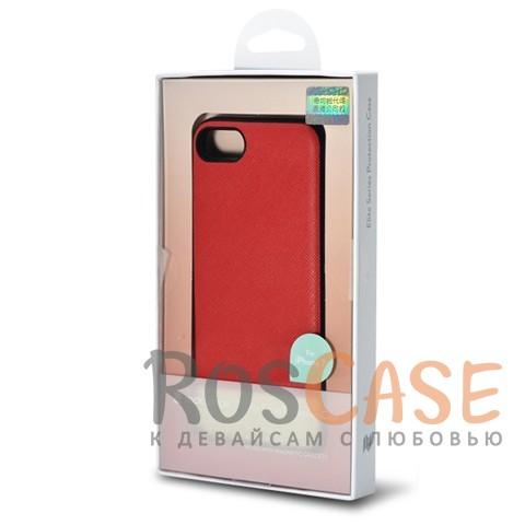 Кожаная накладка с металлической вставкой ROCK Elite Series для Apple iPhone 7 (4.7) (Красный / Red)Описание:производитель  - &amp;nbsp;Rock;разработан для Apple iPhone 7 (4.7);материал  -  искусственная кожа, металл, поликарбонат;тип  -  накладка.&amp;nbsp;Особенности:металлическая вставка;в наличии все функциональные вырезы;не скользит в руках;амортизирует удары;защищает от механических повреждений.<br><br>Тип: Чехол<br>Бренд: ROCK<br>Материал: Искусственная кожа