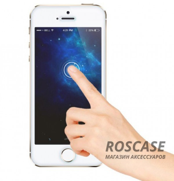фотография  Защитное стекло ROCK Premium Tempered (2.5D) Glass (Anti-Blue Light) для Apple iPhone 5/5S/SE