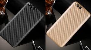 Матовый чехол для Xiaomi Mi 6 с текстурированной поверхностью под карбон
