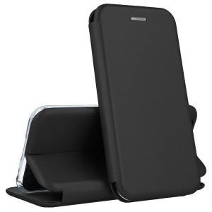 Open Color | Кожаный чехол-книжка для Samsung Galaxy J6 Plus (2018) с функцией подставки и магнитом