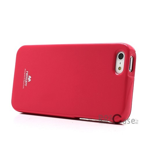 Изображение Малиновый Яркий гибкий силиконовый чехол Mercury Color Pearl Jelly для Apple iPhone 5/5S/SE