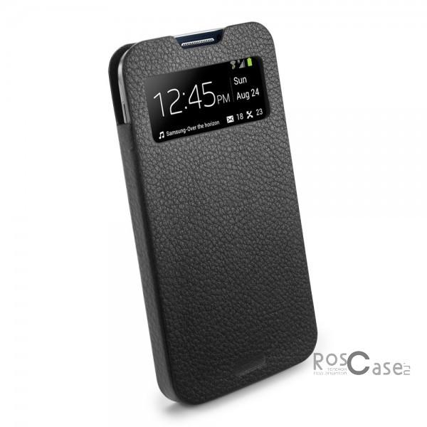 Кожаный футляр SGP Crumena View Series для Samsung Galaxy S4 i9500 - вид сбоку