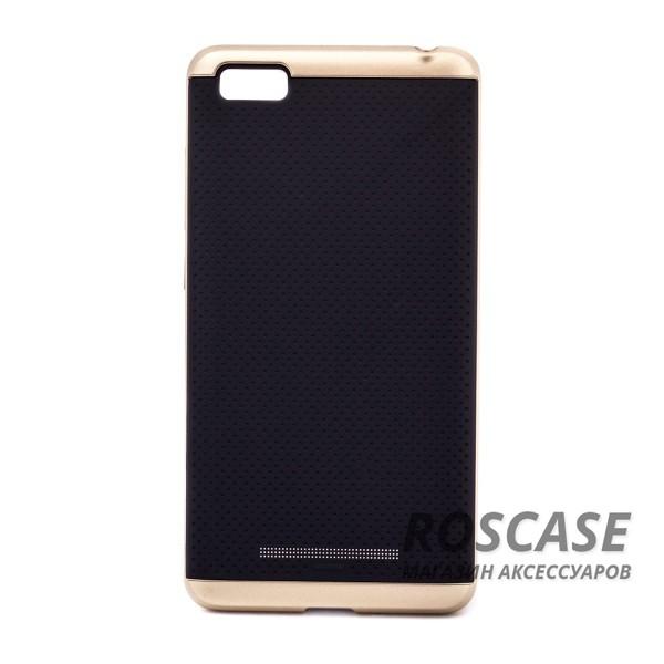 Двухкомпонентный чехол Hybrid со вставкой цвета металлик для Xiaomi Mi 4i / Mi 4c (Черный / Золотой)Описание:производитель - iPaky;совместим с Xiaomi Mi 4i / Mi 4c;материал: термополиуретан, поликарбонат;форма: накладка на заднюю панель.Особенности:эластичный;рельефная поверхность;прочная окантовка;ультратонкий;надежная фиксация.<br><br>Тип: Чехол<br>Бренд: iPaky<br>Материал: TPU