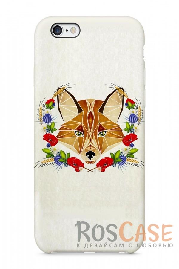 """Фото Лисица в Цветах Пластиковый чехол RosCase """"Лесные животные"""" для iPhone 6/6s (4.7"""")"""