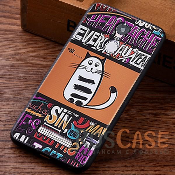 TPU чехол с принтом Cats story tales для Xiaomi Redmi Note 3 / Redmi Note 3 Pro (Оранжевый)<br><br>Тип: Чехол<br>Бренд: Epik<br>Материал: TPU