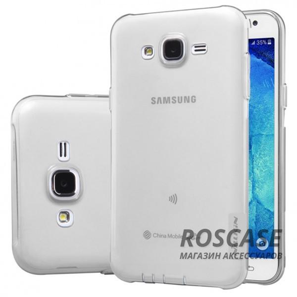 TPU чехол Nillkin Nature Series для Samsung J700H Galaxy J7 (Серый (прозрачный))Описание:производитель  -  бренд&amp;nbsp;Nillkin;совместим с Samsung J700H Galaxy J7;материал  -  термополиуретан;тип  -  накладка.&amp;nbsp;Особенности:в наличии все вырезы;не скользит в руках;тонкий дизайн;защита от ударов и царапин;прозрачный.<br><br>Тип: Чехол<br>Бренд: Nillkin<br>Материал: TPU