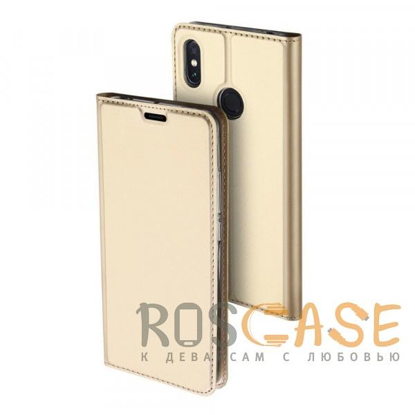 Фото Золотой Dux Ducis   Чехол-книжка для Xiaomi Mi Max 3 с функцией подставки и картхолдером