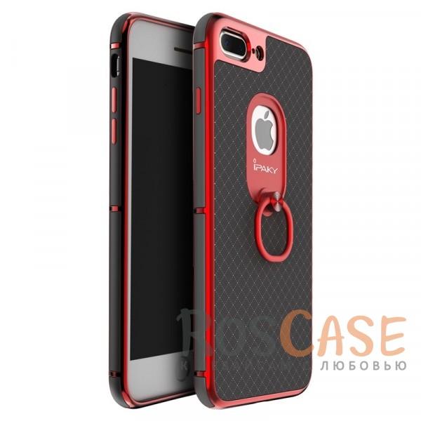 Чехол iPaky Ring Series для Apple iPhone 7 plus (5.5) (Красный)Описание:идеально совместим с Apple iPhone 7 plus (5.5);бренд - iPaky;материал - поликарбонат, термополиуретан, искусственная кожа;тип - накладка.<br><br>Тип: Чехол<br>Бренд: Epik<br>Материал: Пластик