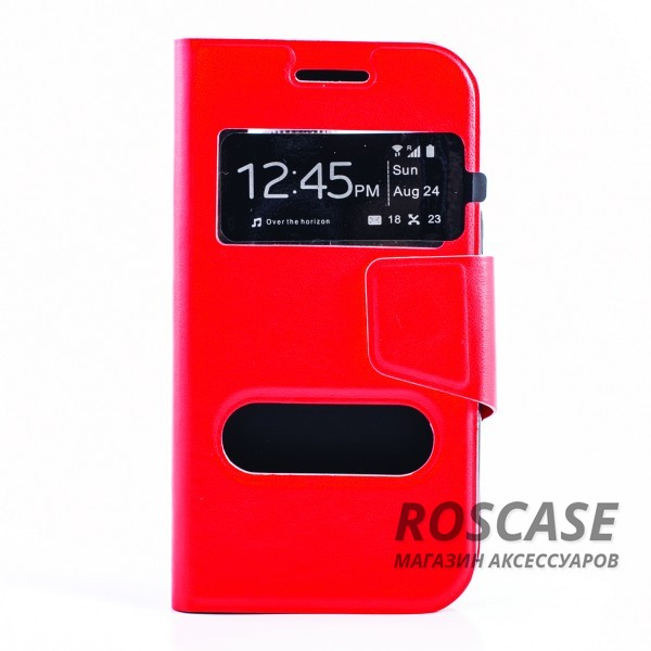 Чехол (книжка) с TPU креплением для Samsung Galaxy J1 Duos SM-J100 (Красный)Описание:производитель - бренд&amp;nbsp;Epik;создан для Samsung Galaxy J1 Duos SM-J100;материал: синтетическая кожа;тип: чехол-книжка.&amp;nbsp;Особенности:имеются функциональные вырезы;магнитная застежка;защита от ударов и падений;окошки в обложке;ответ на вызов через окошко в обложке;не скользит в руках.<br><br>Тип: Чехол<br>Бренд: Epik<br>Материал: Искусственная кожа