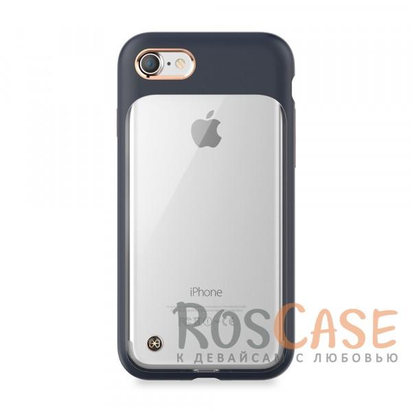 Тонкий защитный чехол STIL Monokini с прозрачной вставкой и металлическая окантовка вокруг камеры для Apple iPhone 7 / 8 (4.7) (Синий)Описание:создан компанией&amp;nbsp;STIL;разработан с учетом особенностей&amp;nbsp;Apple iPhone 7 / 8 (4.7);материалы - термополиуретан, поликарбонат;тип - накладка.Особенности:сочетание прозрачного и матового материалов;золотистая окантовка вокруг камеры и кнопок;доступ ко всем функциям гаджета благодаря точным вырезам;защита от царапин и ударов;защита экрана благодаря выступающим бортикам;размеры - 145*74*10 мм, 36&amp;nbsp;гр.<br><br>Тип: Чехол<br>Бренд: Stil<br>Материал: Поликарбонат