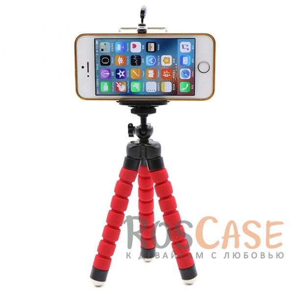 Фотография Красный Гибкий штатив Осьминог для съемки видео с креплением для телефона