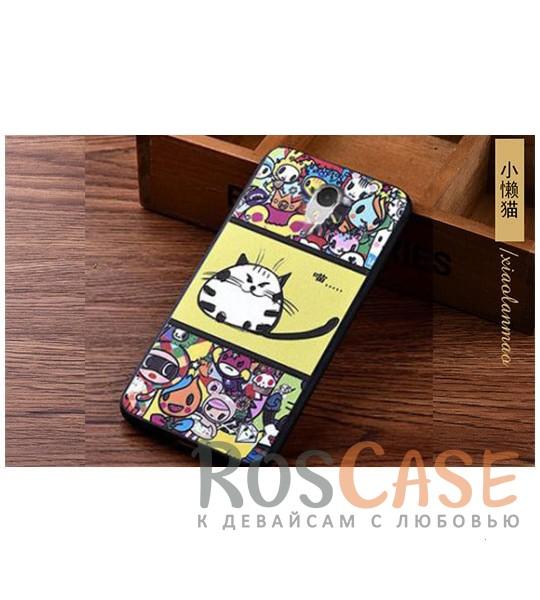 TPU чехол с принтом Cats story tales для Meizu M3 Note (Желтый)<br><br>Тип: Чехол<br>Бренд: Epik<br>Материал: TPU
