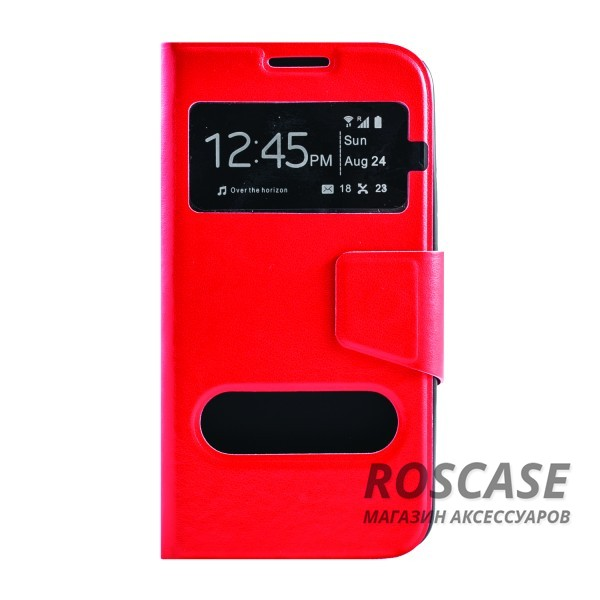 Чехол (книжка) с TPU креплением для Samsung G900 Galaxy S5 (Красный)Описание:производитель - бренд&amp;nbsp;Epik;разработан для Samsung G900 Galaxy S5;материал: искусственная кожа;тип: чехол-книжка.&amp;nbsp;Особенности:имеются функциональные вырезы;магнитная застежка;защита от ударов и падений;окошко в обложке;ответ на вызов через обложку;не скользит в руках.<br><br>Тип: Чехол<br>Бренд: Epik<br>Материал: Искусственная кожа