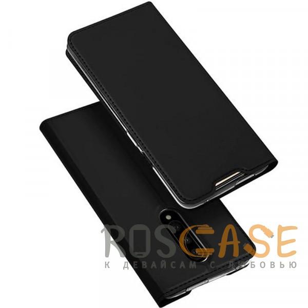 Фото Черный Чехол-книжка Dux Ducis с карманом для визиток для OnePlus 7 Pro