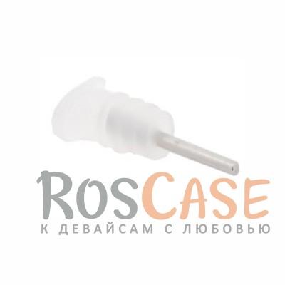 Заглушки microUSB+3.5мм аудио порта (Бесцветный скругленный)