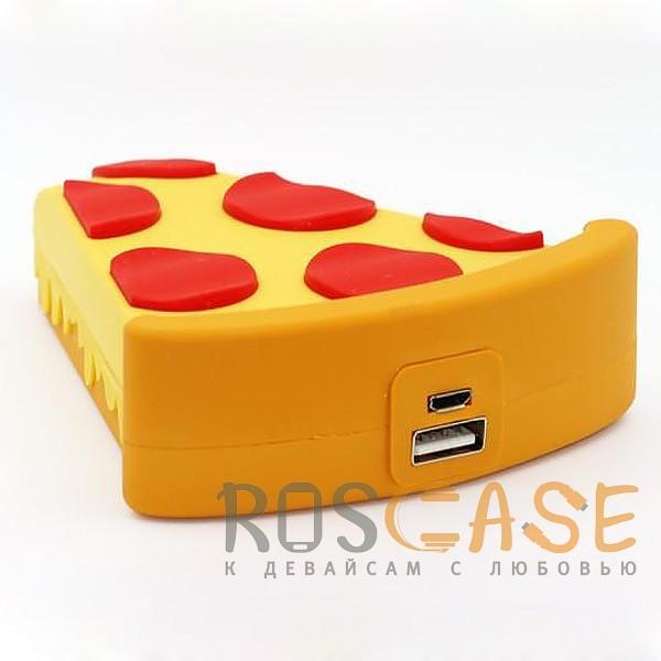 Изображение Пицца Emoji   Портативное зарядное устройство Power Bank с матовым покрытием 5000mAh (1 USB 1A)