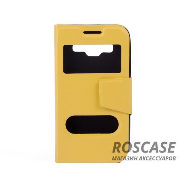 Чехол (книжка) с TPU креплением для Samsung G360H/G361H Galaxy Core Prime Duos (Желтый)Описание:компания-изготовитель: Epik;полная совместимость с устройством модели: Samsung G360H/G361H Galaxy Core Prime Duos;материал для изготовления: синтетическая кожа и термополиуретан;конфигурация: обложка в виде книжки.Особенности:всесторонняя защита смартфона;высокий класс износоустойчивости;возможность принимать звонки с закрытой обложкой;имеет 2 окошка.<br><br>Тип: Чехол<br>Бренд: Epik<br>Материал: Искусственная кожа