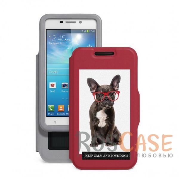 Универсальный чехол-книжка с оригинальным принтом Пушистики-бульдог для смартфона с диагональю 5,5-6,0 дюйма (Красный)Описание:совместимость -&amp;nbsp;смартфоны с диагональю&amp;nbsp;5,5-6,0 дюйма;материал - искусственная кожа;тип - чехол-книжка;предусмотрены все необходимые вырезы;защищает девайс со всех сторон;оригинальный принт;ВНИМАНИЕ:&amp;nbsp;убедитесь, что ваша модель устройства находится в пределах максимального размера чехла.&amp;nbsp;Размеры чехла: 152*82 мм.<br><br>Тип: Чехол<br>Бренд: Baseus<br>Материал: Искусственная кожа