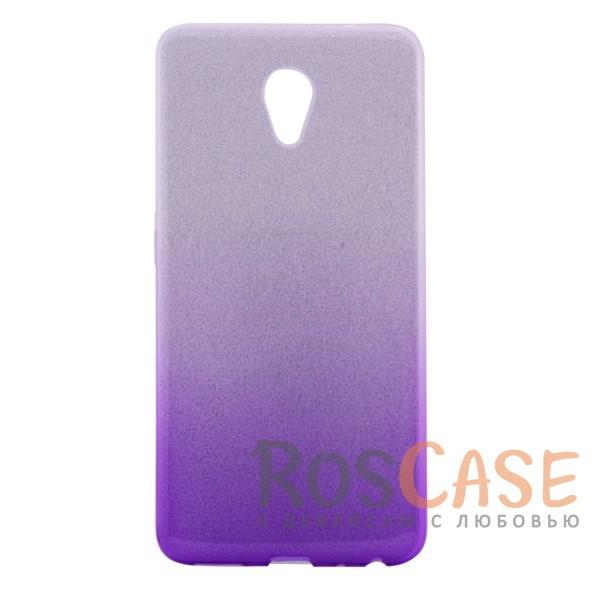 Фото Стильный блестящий чехол-накладка с двухцветным градиентом для Meizu M5s