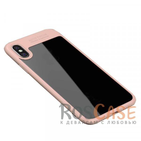 Ультратонкий чехол iPaky (original) Hard Original с глянцевой прозрачной вставкой и защитными бортиками вокруг камеры для Apple iPhone X (5.8) (Розовый)Особенности:совместимость -&amp;nbsp;Apple iPhone X (5.8);бренд -&amp;nbsp;iPaky;материалы - поликарбонат, термополиуретан;тип - накладка;прозрачная вставка из поликарбоната;легко устанавливается;дополнительная защита камеры;дублирующие кнопки для защиты клавиш;ультратонкий дизайн;предусмотрены все функциональные вырезы.&amp;nbsp;<br><br>Тип: Чехол<br>Бренд: iPaky<br>Материал: Поликарбонат