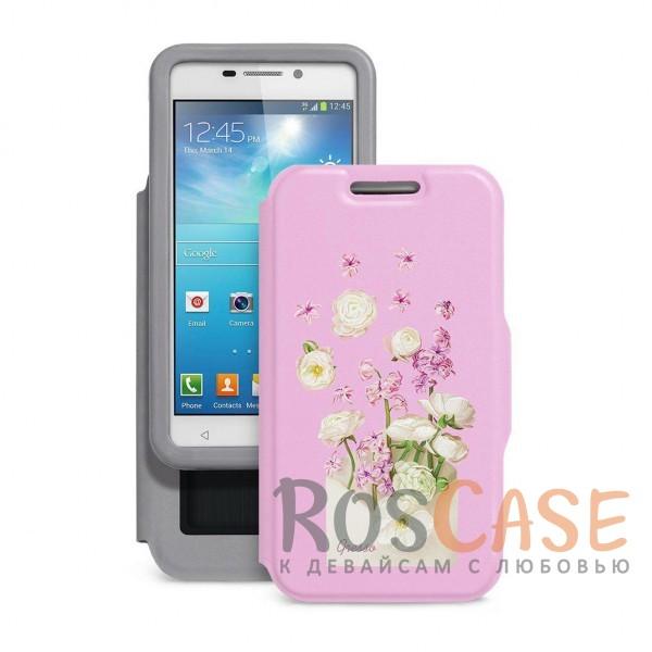 Универсальный женский чехол-книжка Gresso с принтом цветка Признание маргаритка для смартфона с диагональю  5,5-6,0 дюйма (Розовый)Описание:совместимость -&amp;nbsp;смартфоны с диагональю&amp;nbsp;5,5-6,0 дюйма;материал - искусственная кожа;тип - чехол-книжка;предусмотрены все необходимые вырезы;защищает девайс со всех сторон;цветочный рисунок;ВНИМАНИЕ:&amp;nbsp;убедитесь, что ваша модель устройства находится в пределах максимального размера чехла.&amp;nbsp;Размеры чехла: 152*82 мм.<br><br>Тип: Чехол<br>Бренд: Gresso<br>Материал: Искусственная кожа
